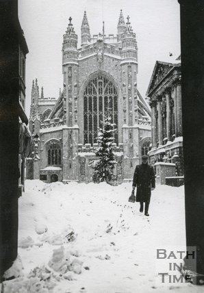 Heavy snow in the winter of 1962 / 1963, Bath, January 1963