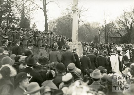 Unveiling the Twerton War Memorial in Bath, March 1921