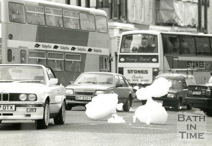 Bath invaded by giant foam! , 2 November 1989