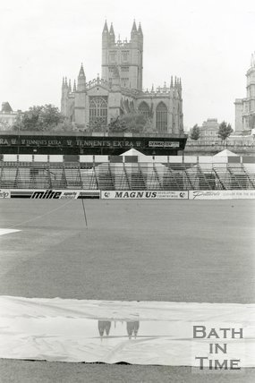 View of Bath Abbey from the Recreation Ground, Bath, 17 June 1991