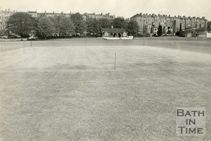 The cricket square on the Recreation Ground, Bath, c.1970