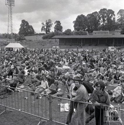Bath Blues Festival crowd, Twerton Park, 26 June 1970