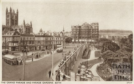 Postcard view of Terrace Walk, Bath, c.1930s