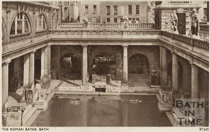 Postcard view of the Roman Great Bath, Bath, c.1930s