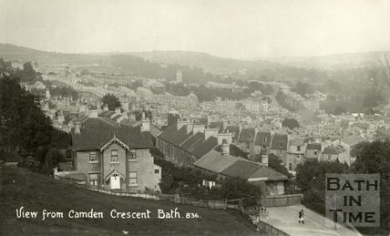 View from Camden Crescent looking east, c.1915