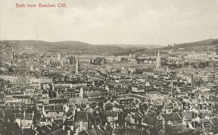 View of Bath from Beechen Cliff, c.1910