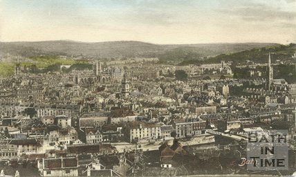View of Bath from Beechen Cliff c.1905