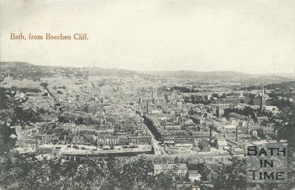 View of Bath from Beechen Cliff, c.1903