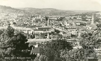 View of Bath from Beechen Cliff, c.1950s