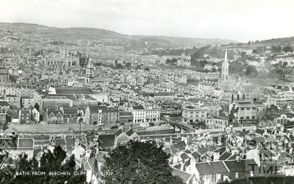 View of Bath from Beechen Cliff, c.1940s