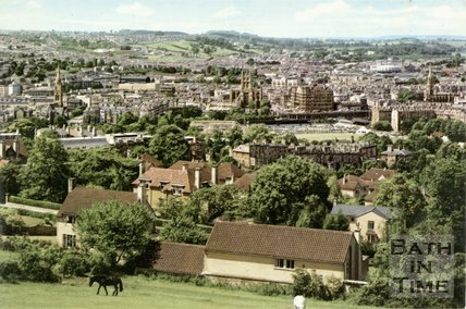 View of Bath from North Road, c.1970s