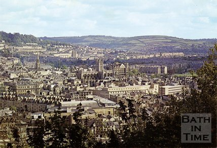 View of Bath from Beechen Cliff, c.1960s