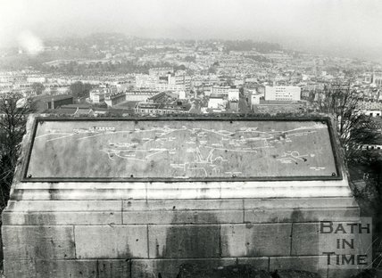 The topograph on Beechen Cliff overlooking Bath, c.1980s