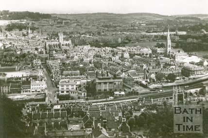 View of Southgate, Bath from Beechen Cliff, c.1930s