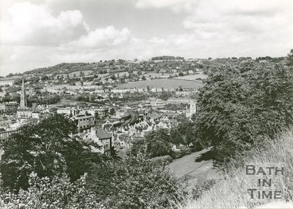 View of Widcombe, Bath from Beechen Cliff, 1950