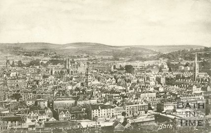 View of Bath from Beechen Cliff 1902