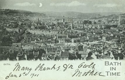 View of Bath from Beechen Cliff, c.1901