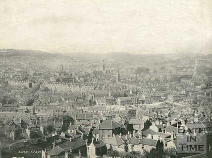 View of Bath from Beechen Cliff 1895