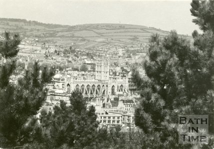 View of Bath Abbey from Beechen Cliff, c.1950