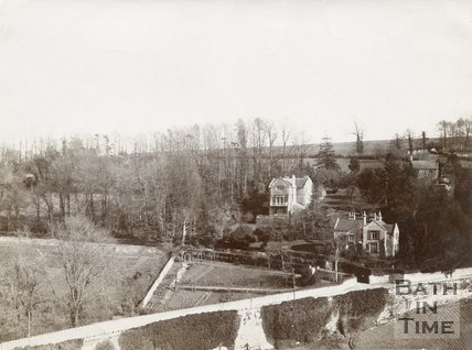View of Entry Hill form Wells Road, Bath, c.1890