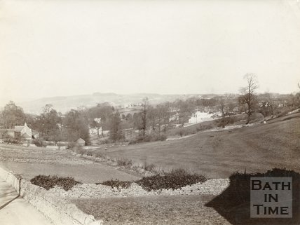 View across to Entry Hill from Wells Road, Bath, c.1890