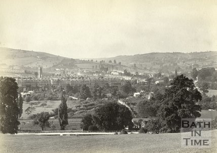 View of Kensington from the Warminster Road A 36, Bath, c.1900