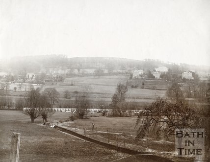 View looking across from Lambridge towards the Warminster Road, Bath, c.1890