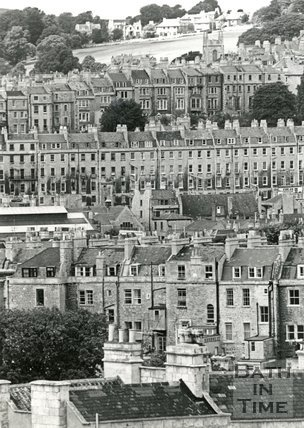 View from Bathwick Hill towards the north west, Bath, 1964