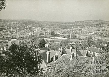 View of Bath and the Recreation Ground from the Youth Hostel on Bathwick Hill, c.1950s