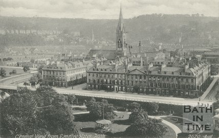 View of North Parade from the Empire Hotel, Bath, c.1910