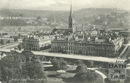 View of North Parade from the Empire Hotel, Bath, c.1905