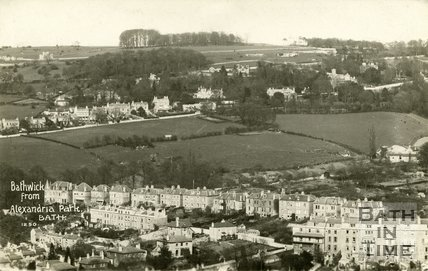 View of Bathwick from Alexandra Park, Bath, c.1916
