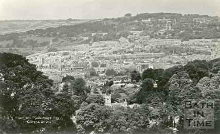 View of Bath from Monument Fields, Combe Down, c.1930s