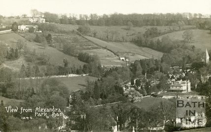 View of Rainbow House from Alexandra Park, Bath, c.1916