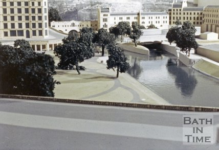 Model of the new weir at Pulteney Bridge, c.1970