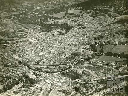 1930 Aerial view of Bath from the south east looking north west, July