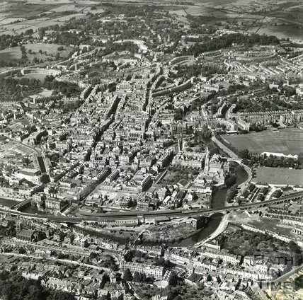 1949 Post War Aerial view of Bath, 8th September