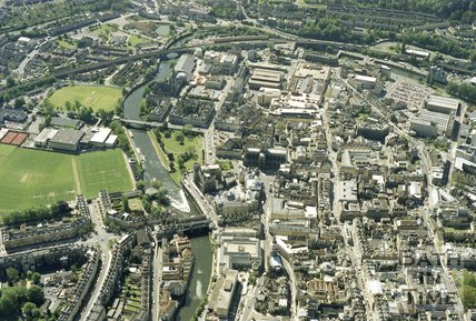 1991 Aerial view of Bath