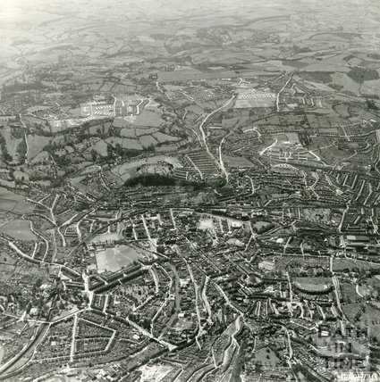 1954 Aerial view of Bath looking from Lansdown all the way to Foxhill and Odd Down