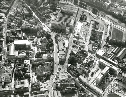 1971 Aerial view of the Kingsmead area of Bath