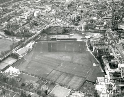 1971 Aerial view of the Recreation Ground, Bath