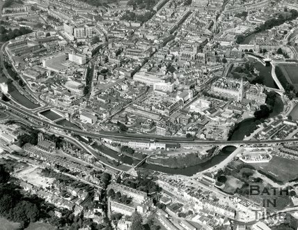 c.1970 Aerial view of Bath from the south looking over Southgate