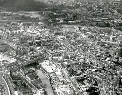 c.1972 Aerial view of Bath looking south towards Southgate