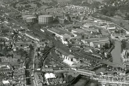 1960 The industrial area leading west from Green Park, Bath