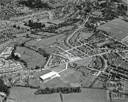 1965 Aerial view of Odd Down, Bloomfield, Bath, July