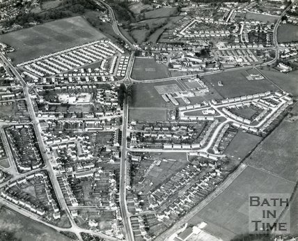 1960s Aerial view of Fosseway School, Odd Down, Bath
