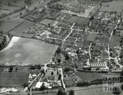 1972 Aerial view of Bathampton, 22 May