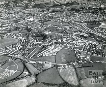 1960s Aerial view of Southdown looking towards Oldfield Park, Bath