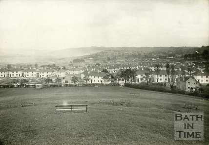 View of Roundhill Grove from the Southdown Roundhill, Bath, c.1950s?