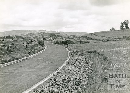 Stirtingdale Road, Southdown, Bath under construction, 1950